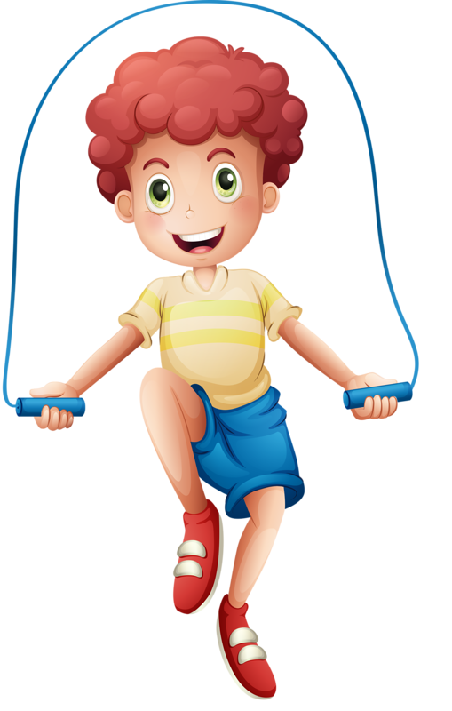 Boy roping clip art. Exercising clipart jump rope