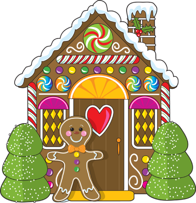 Houses clipart brown. Gingerbread house clip art