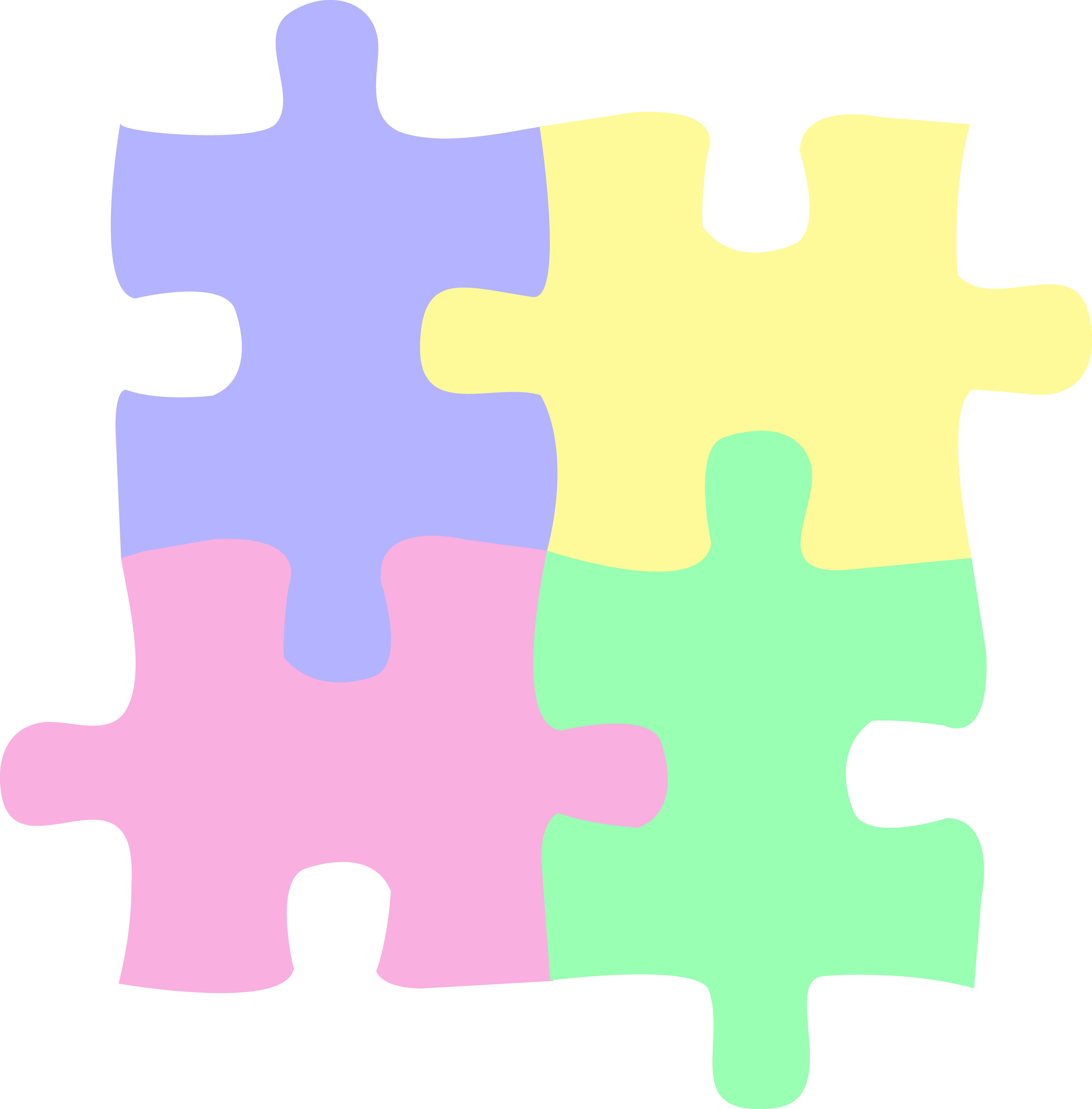 Puzzle clipart integrated. Logo children or autism