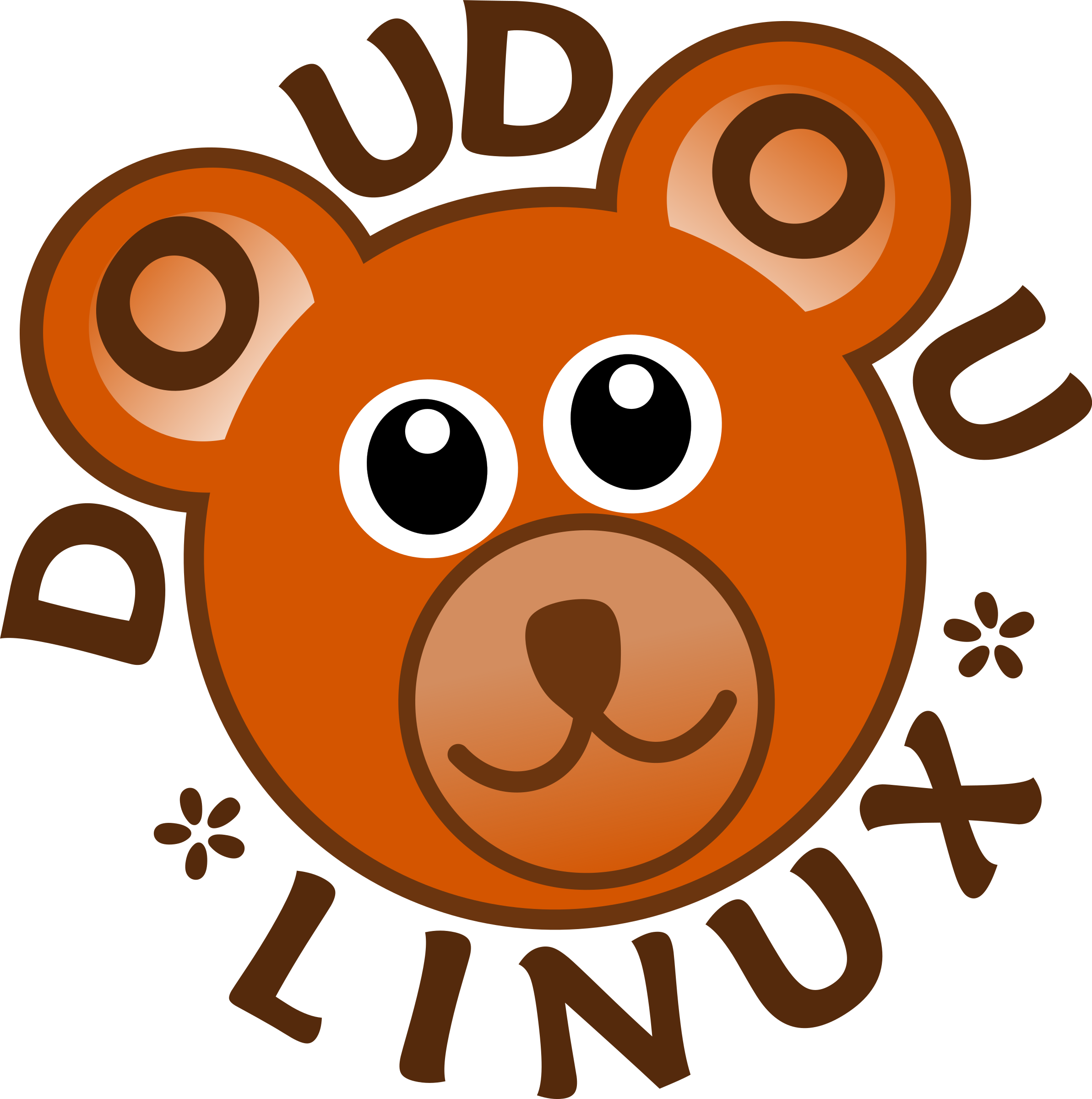 Doudoulinux operating system fun. Clipart children logo