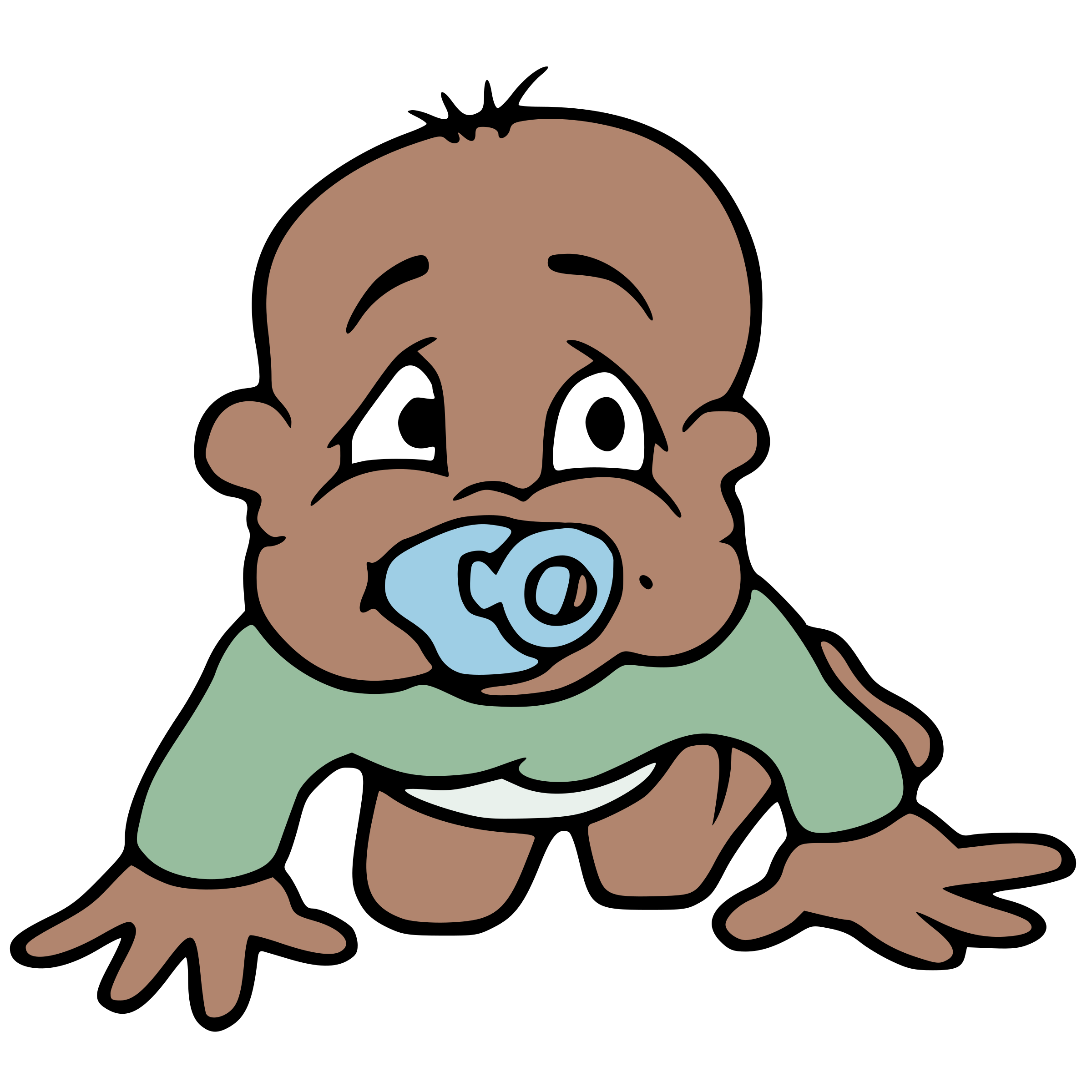 Clipart smile baby. African big image png