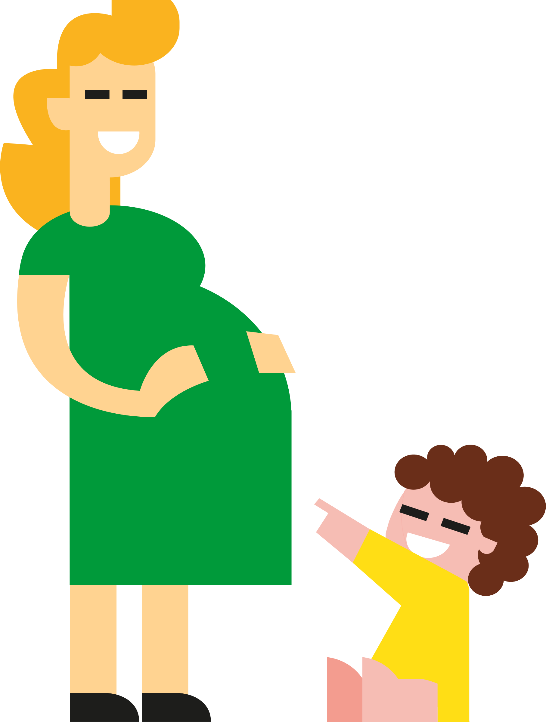 Mother and kid big. Clipart mom office
