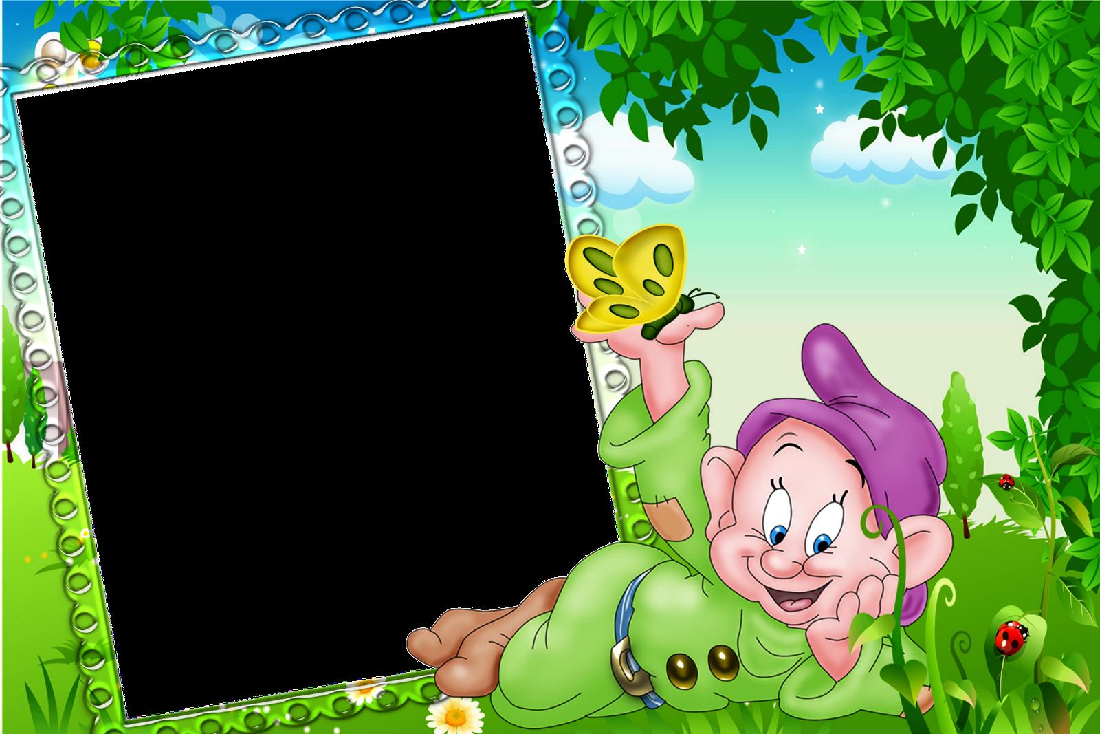 Children transparent frame with. Frames clipart nature