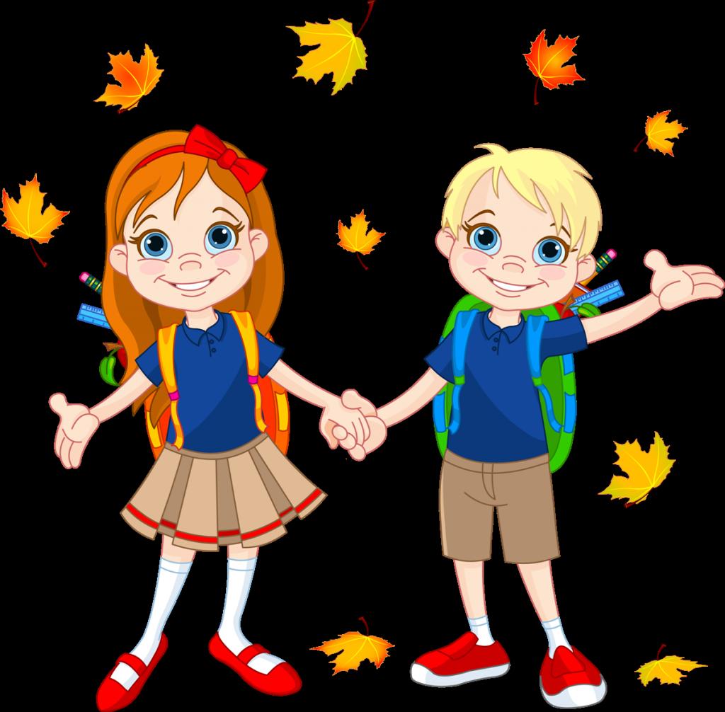 google back to. Kids clipart autumn