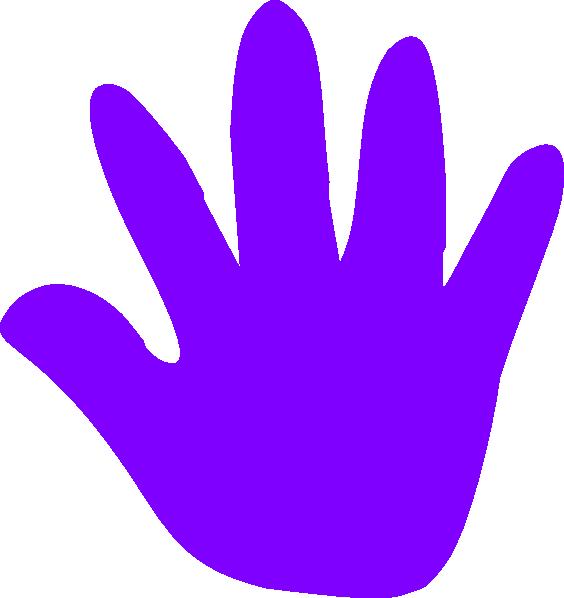 Handprint outline free download. Clipart kid finger