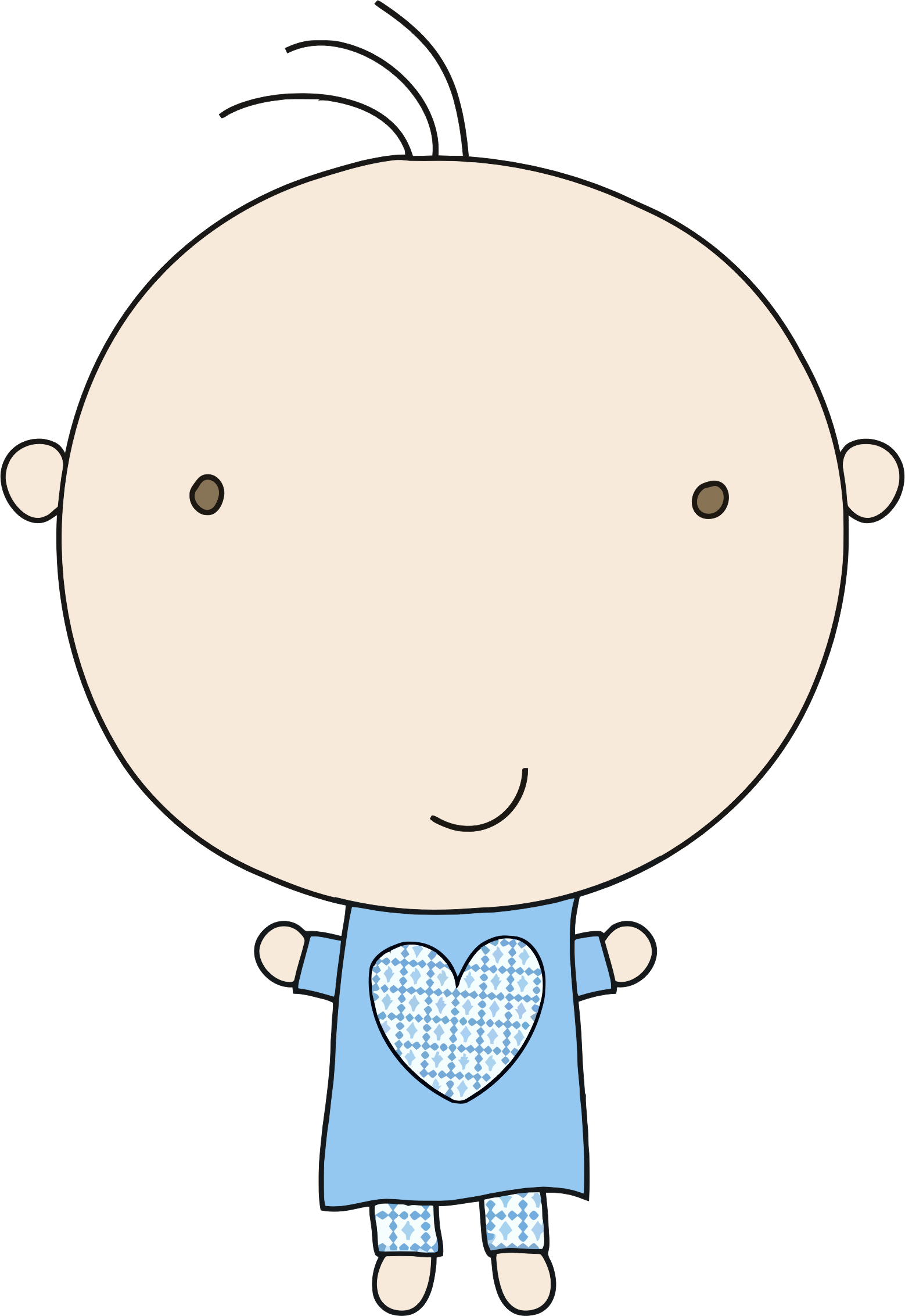Little boy in big. Pajamas clipart clip art
