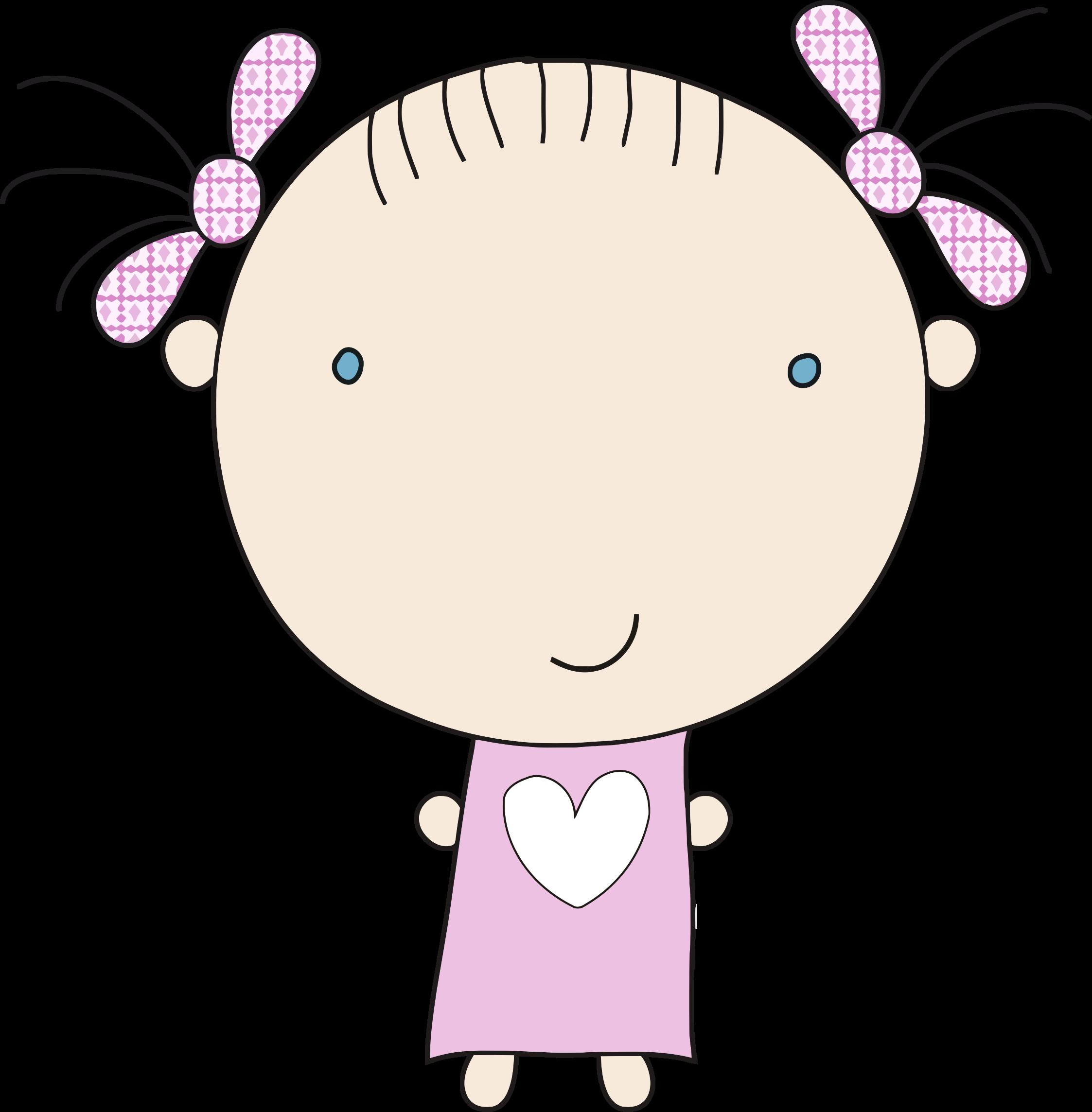 Little girl in big. Pajamas clipart pink pajamas