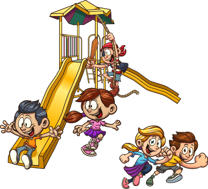 Playground slide child clip. Play clipart out door