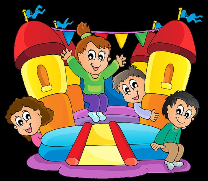 Children playing . Clipart kids playground
