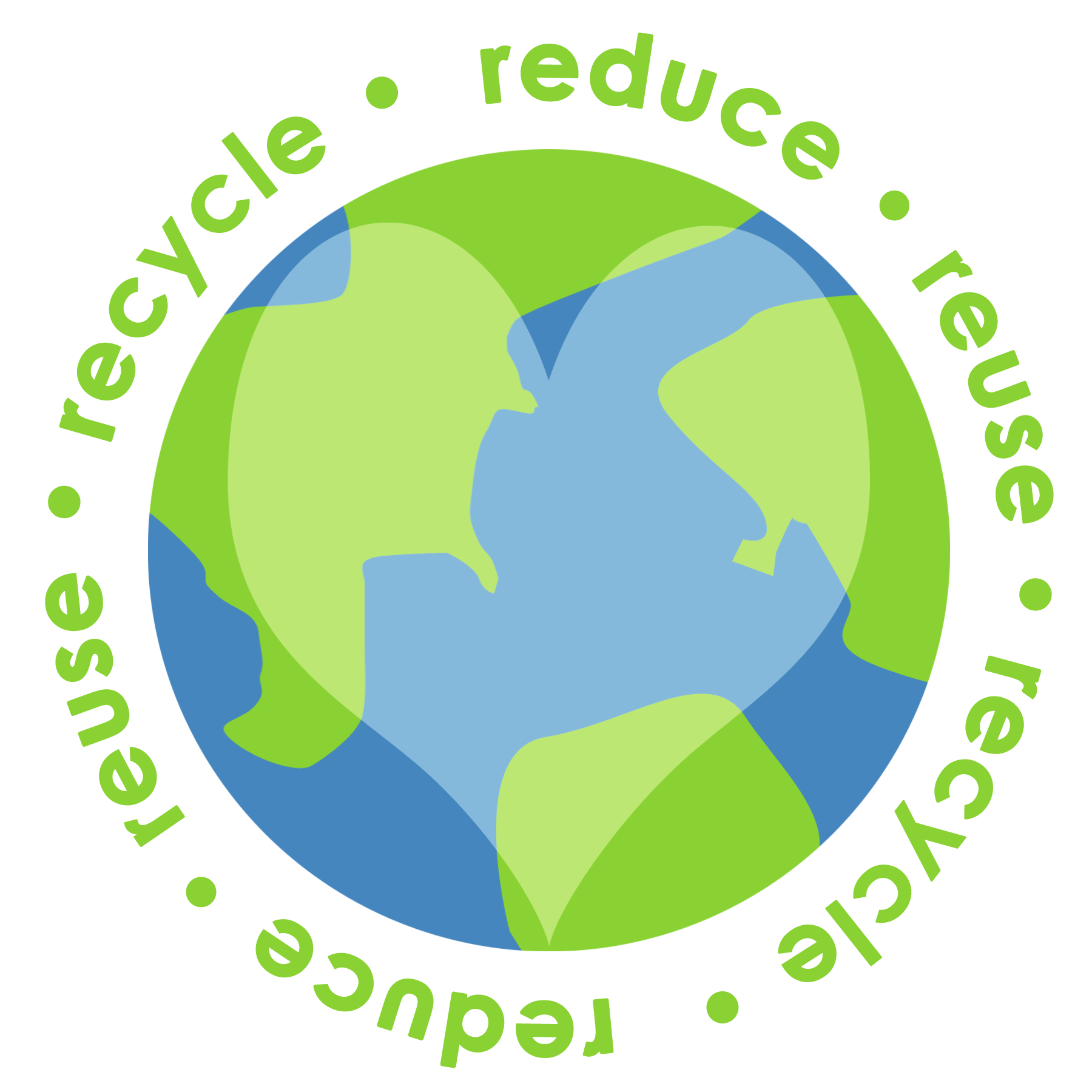 Clipart earth recycling. Reduce reuse recycle liveconsciously