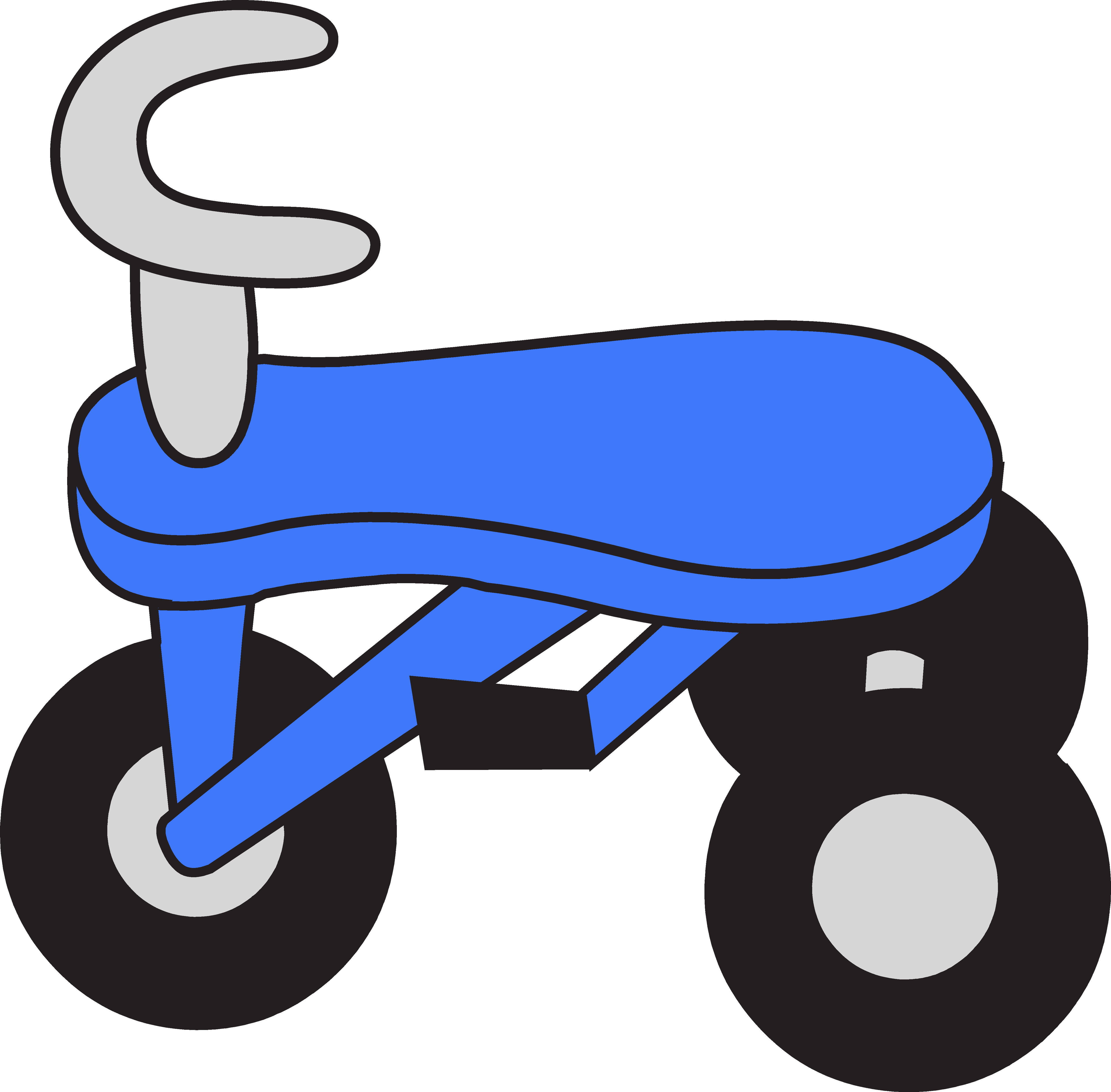 Little blue tricycle free. Clipart fox graphic