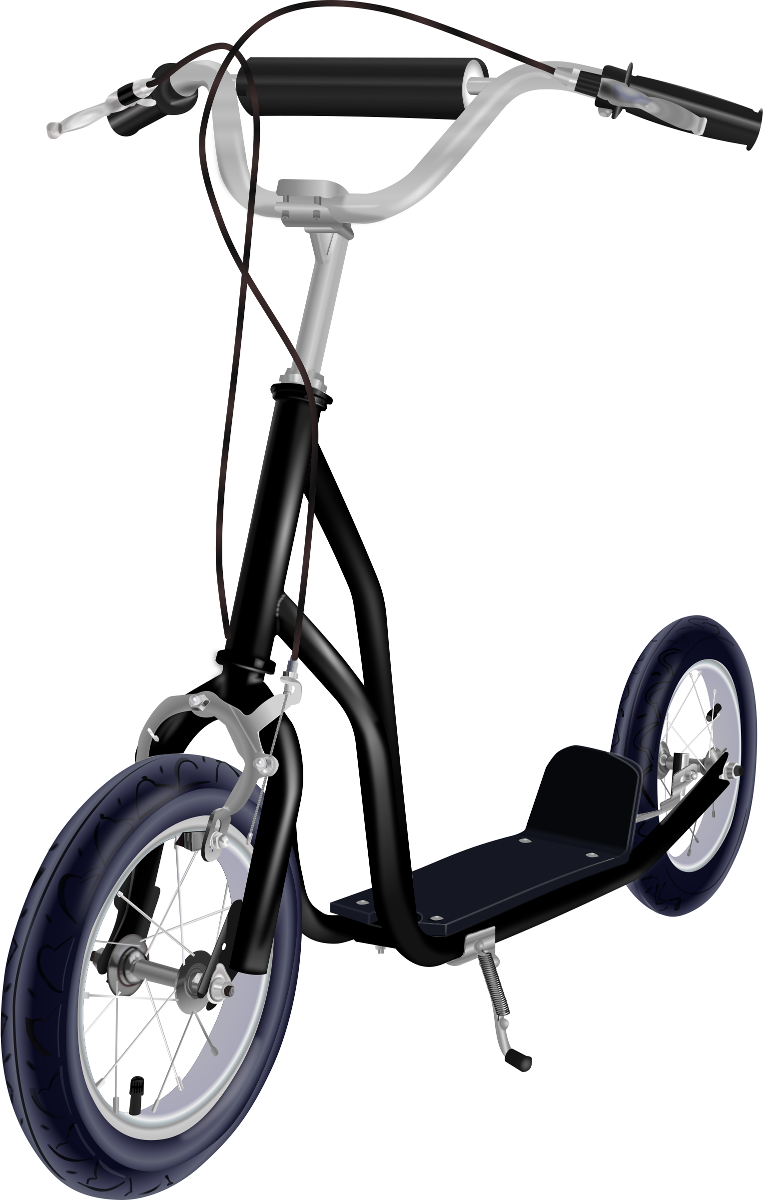 Kick big image png. Clipart child scooter