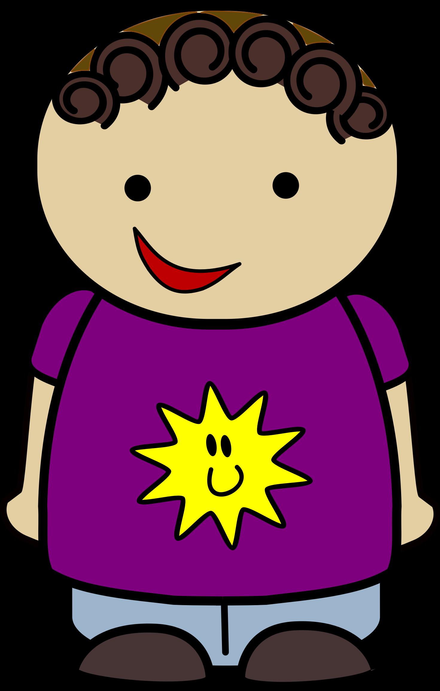 Clipart shirt violet. Happy boy sun big