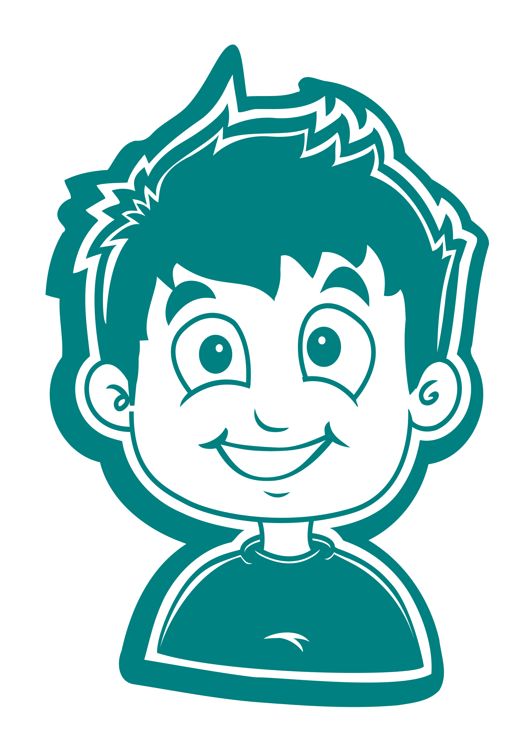 Clipart shirt child. Smiling boy white for