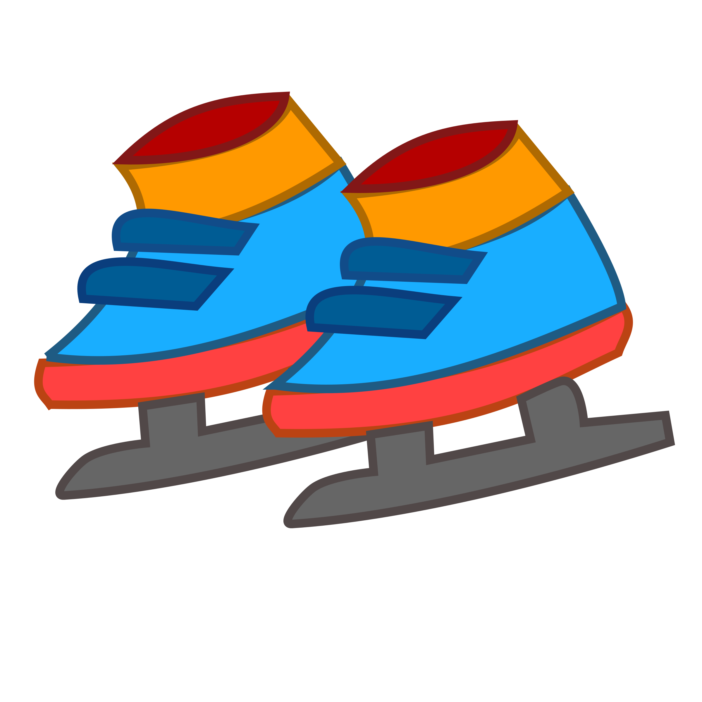 Winter clipart shoe. Skating shoes icon big