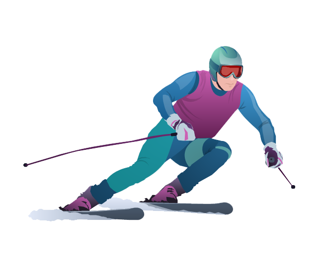 Snowboarding clipart animated winter holiday.  collection of ski