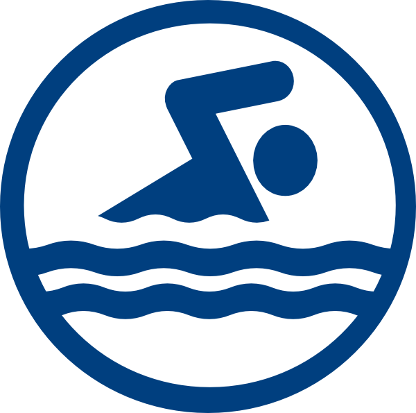 Swimmer logo swim icon. Words clipart pool