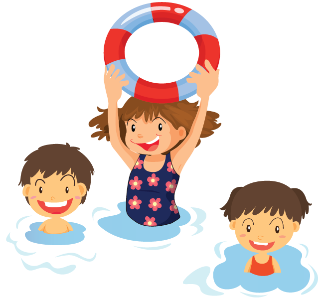 Home learn to swim. Swimsuit clipart swimmer