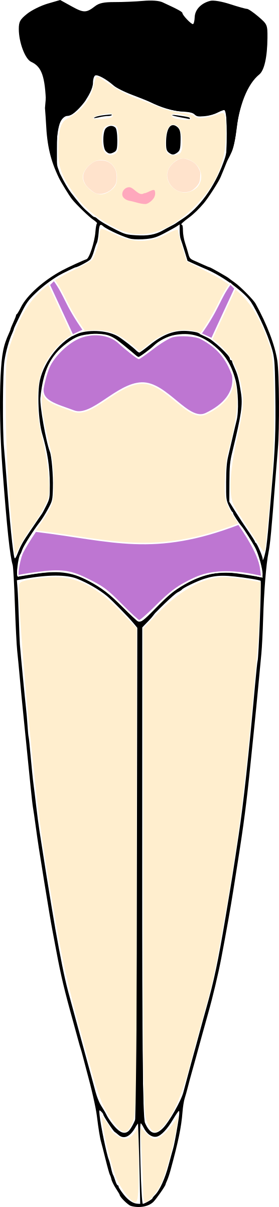 Swimsuit clipart bathing suit. Girl in a big