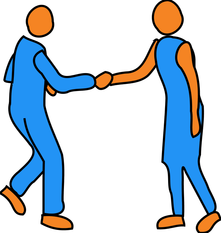 People working together free. Hand clipart friend