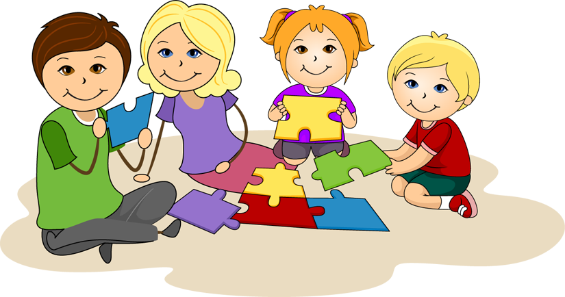 collection of children. Teamwork clipart child