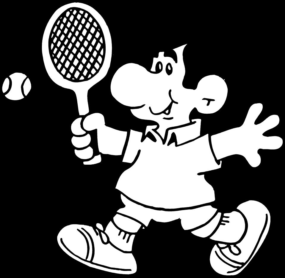 Men clipart tennis. Free stock photo illustration