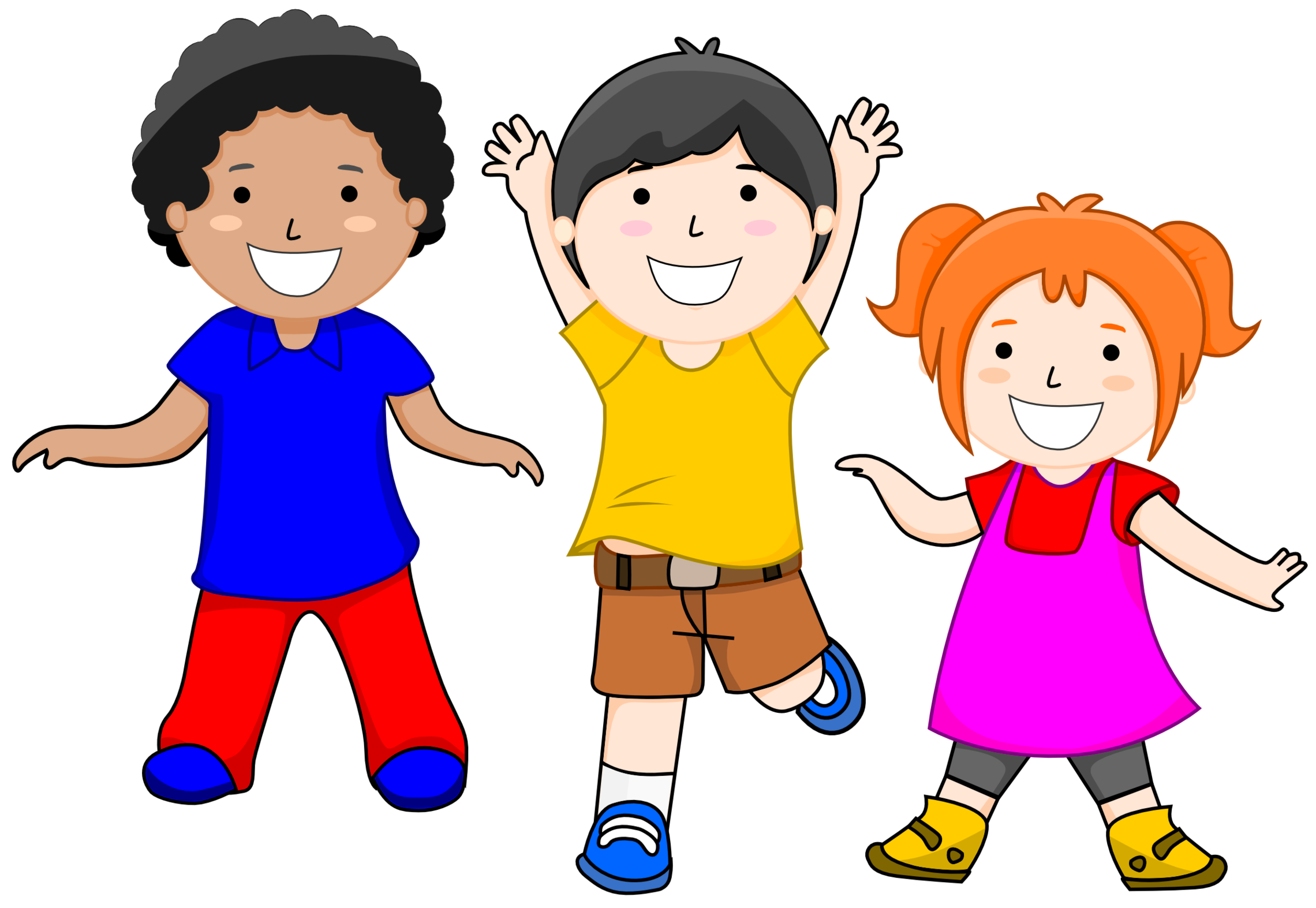 Clipart kids background.  collection of children