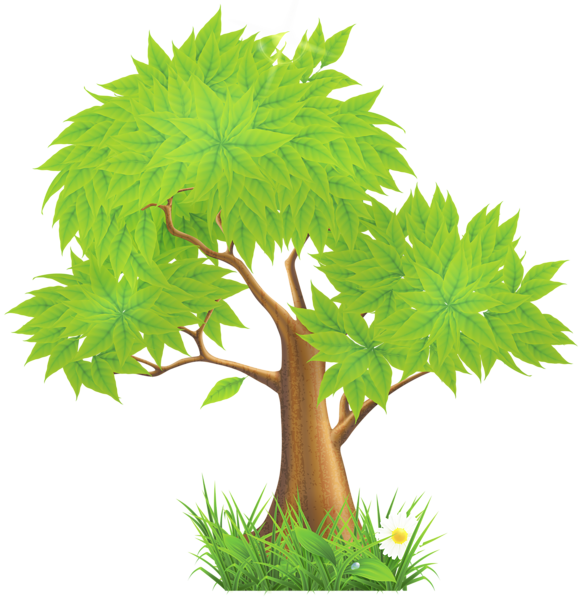 Landscaping clipart tree. Green painted png trees