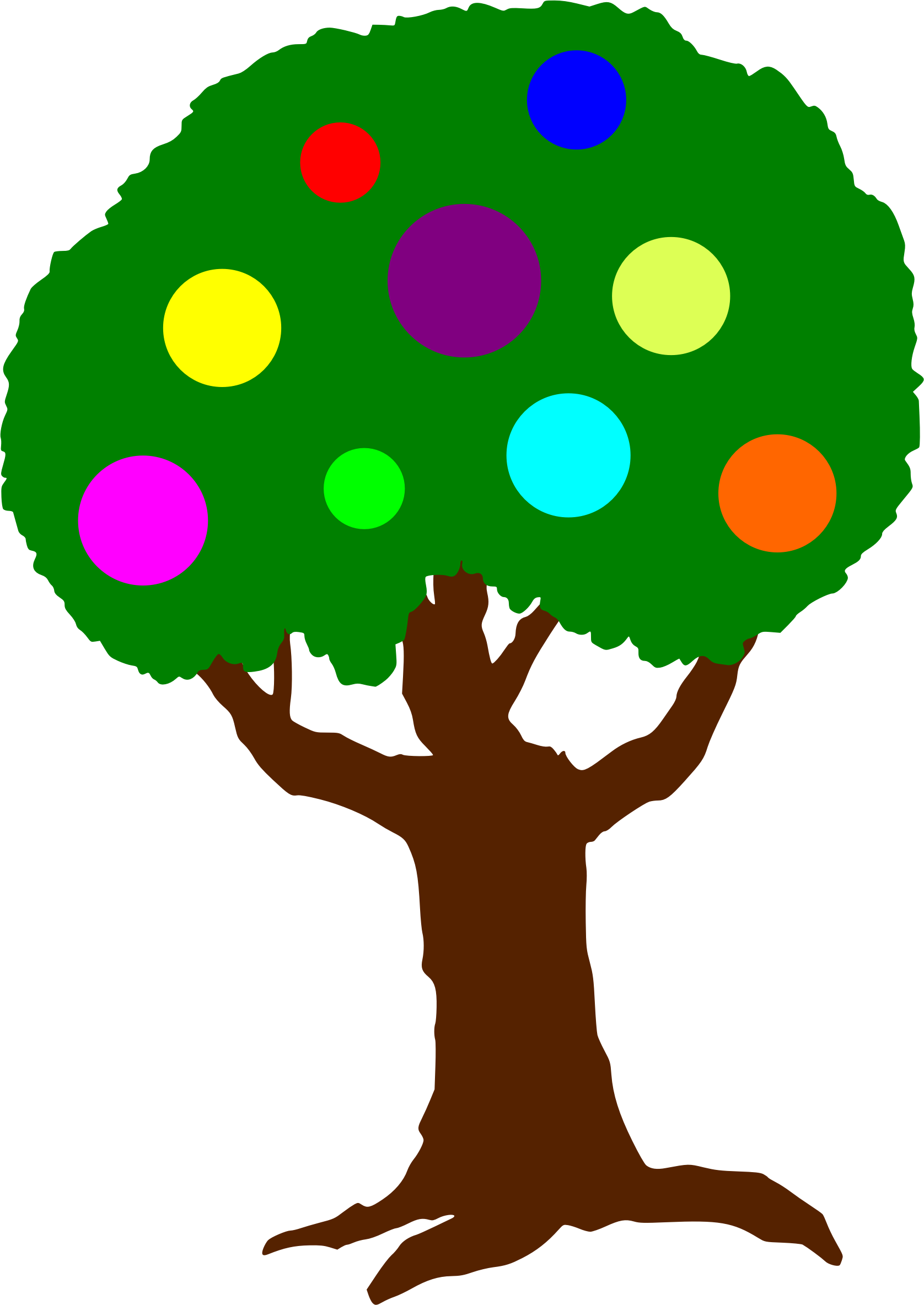 Fruit of the spirit. Clipart trees face