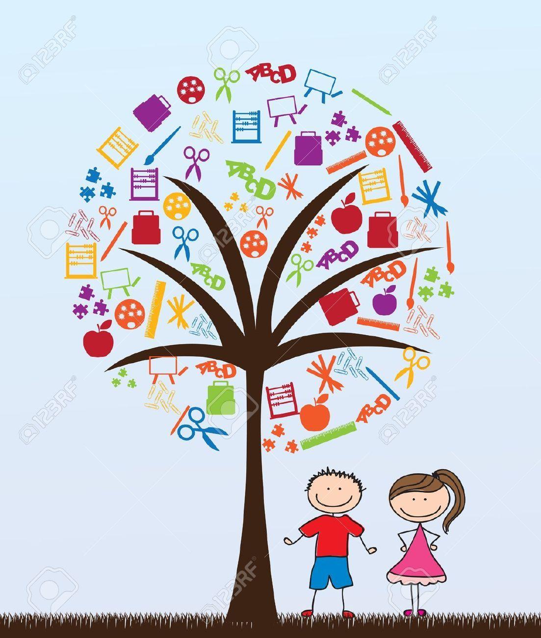 Children and google search. Tree clipart teacher