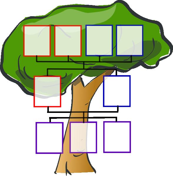 Totetude three kids clip. Clipart tree family tree