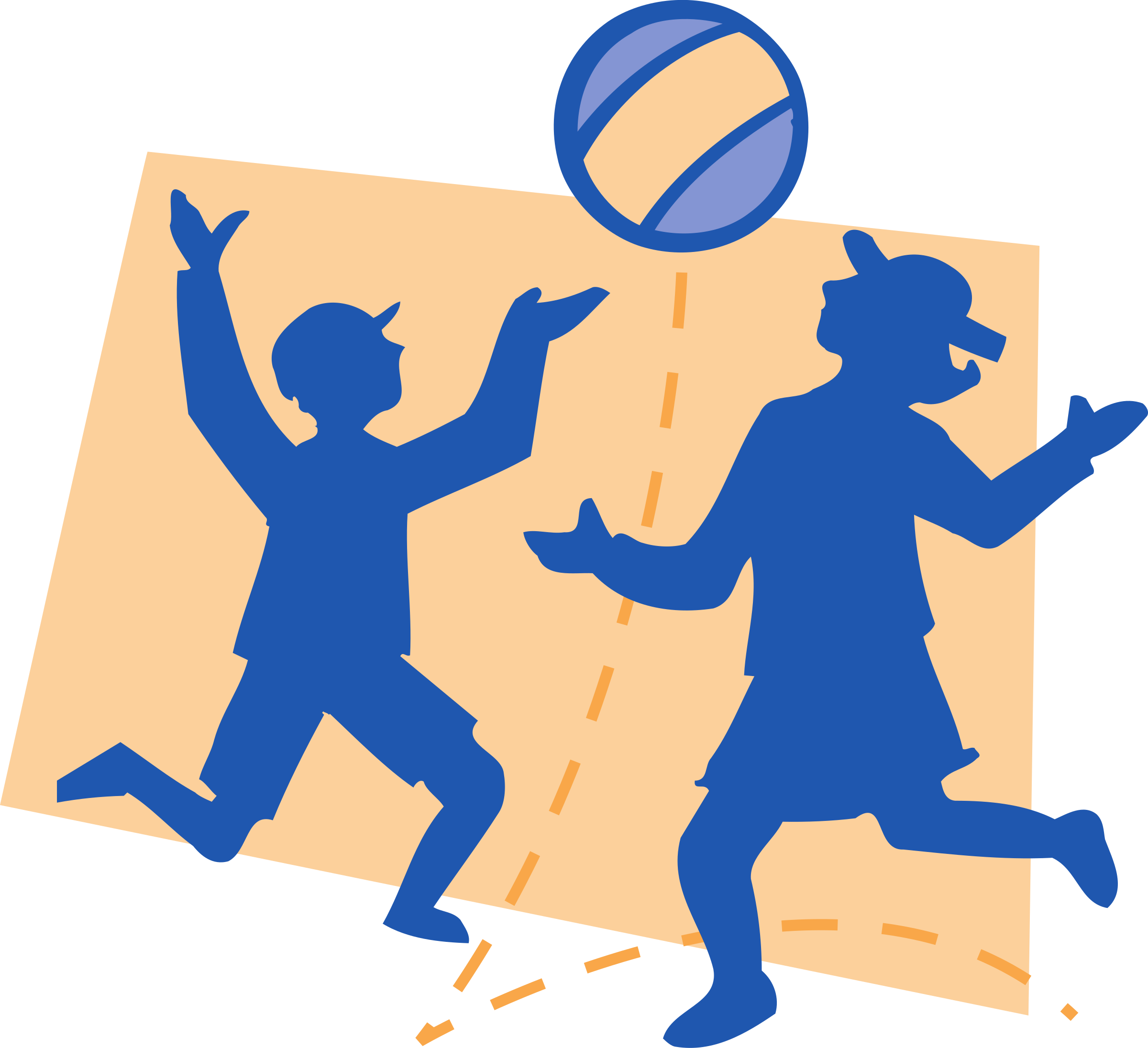 Children playing big image. Volleyball clipart child