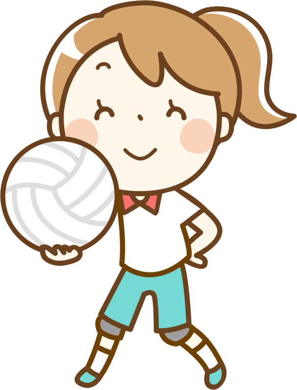 Girl remix medium image. Volleyball clipart child