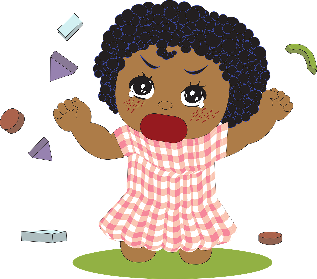 Angry child . Frustrated clipart female