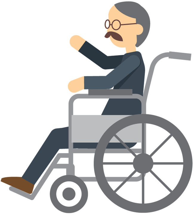 Clipart walking elderly.  collection of wheelchair