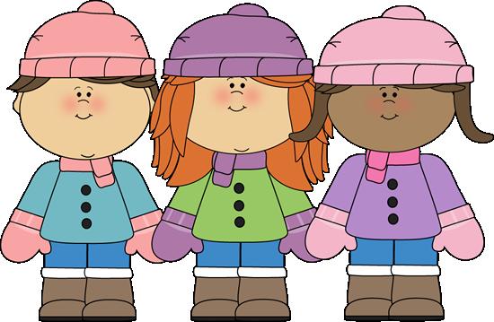 Clipart winter child. Kids clip art girl