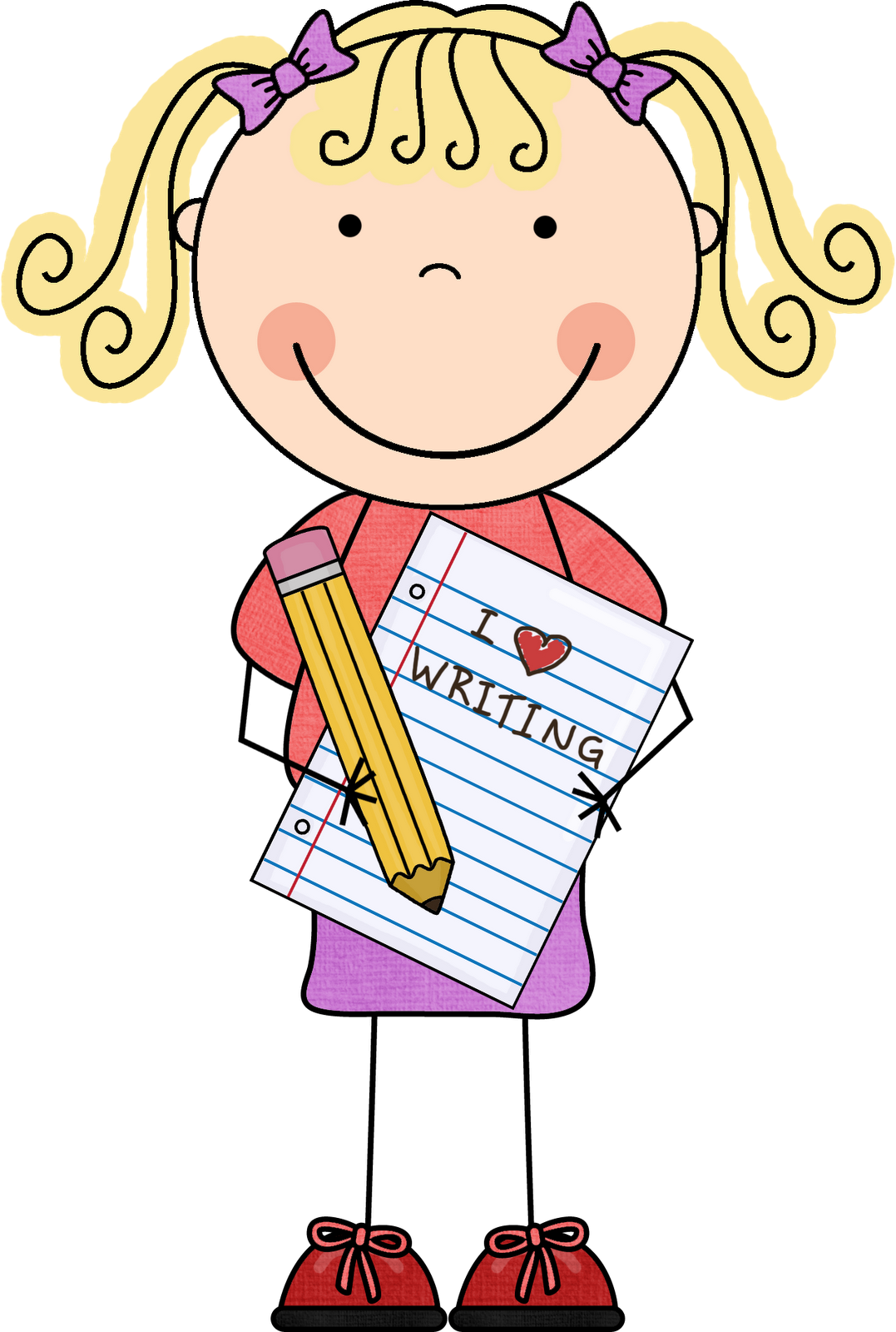 Kids writing letters format. Handwriting clipart sentence