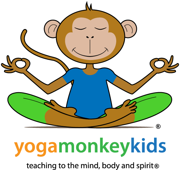 Welcome to yoga kids. Monkey clipart kid