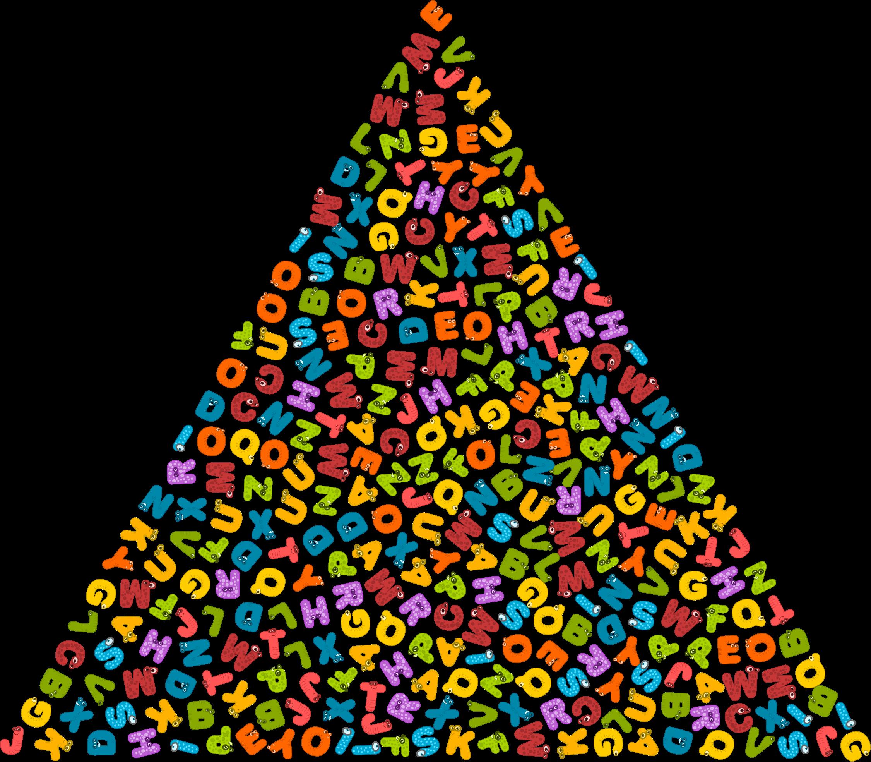 Animals triangle big image. Clipart children alphabet
