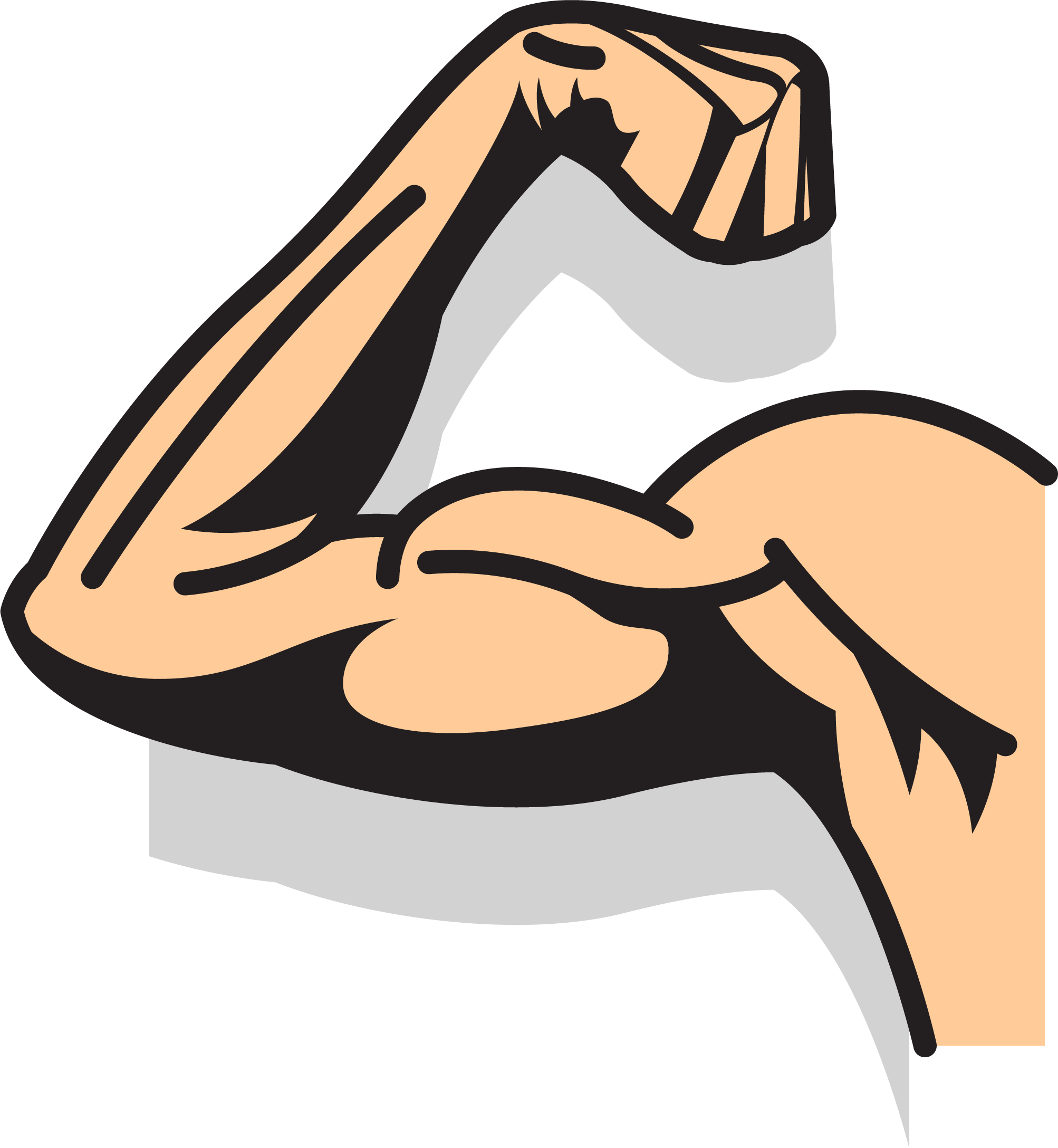 Proud clipart step. Strong arm drawing at