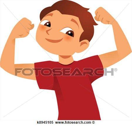 Clip art strong body. Clipart kid arm