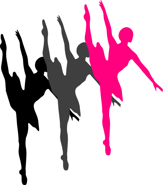 Dancer silhouette panda free. Dance clipart colorful
