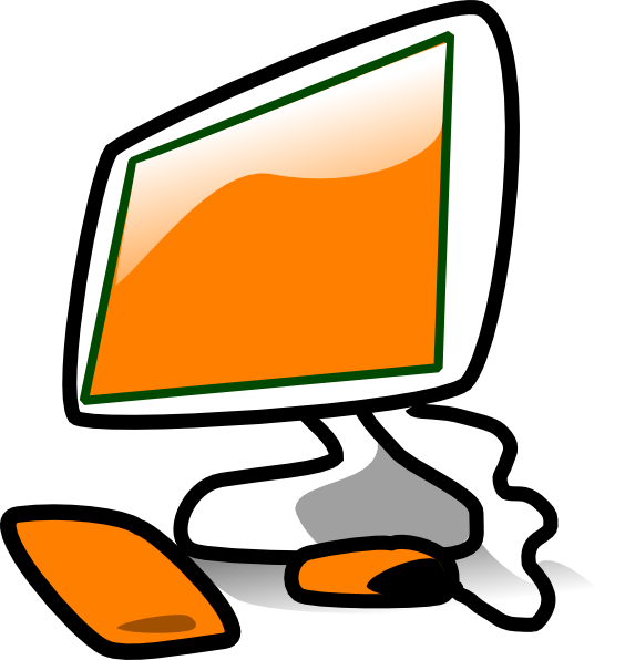 Office clipart monitor. Computer clip art for
