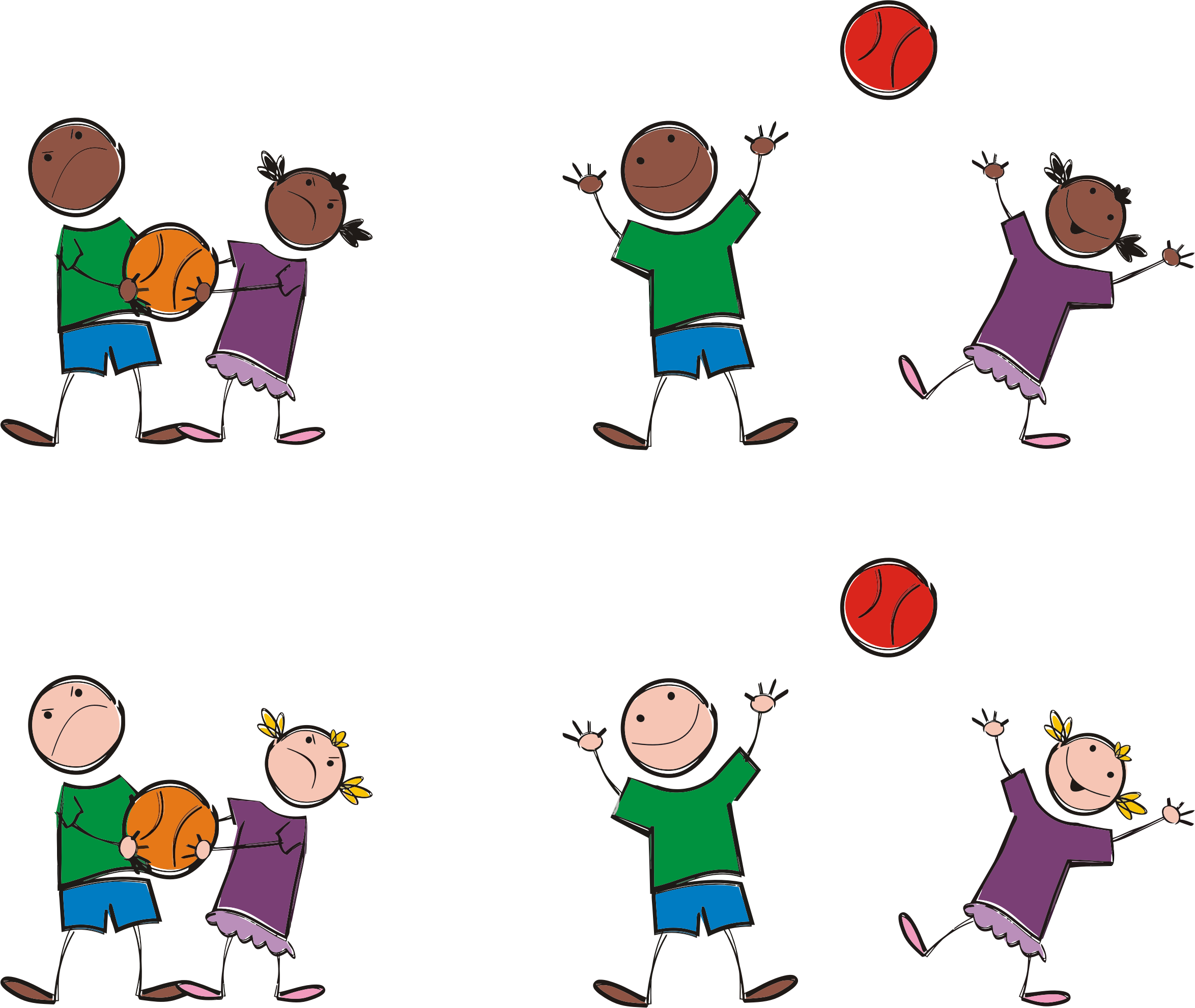 collection of multicultural. Fight clipart share thing