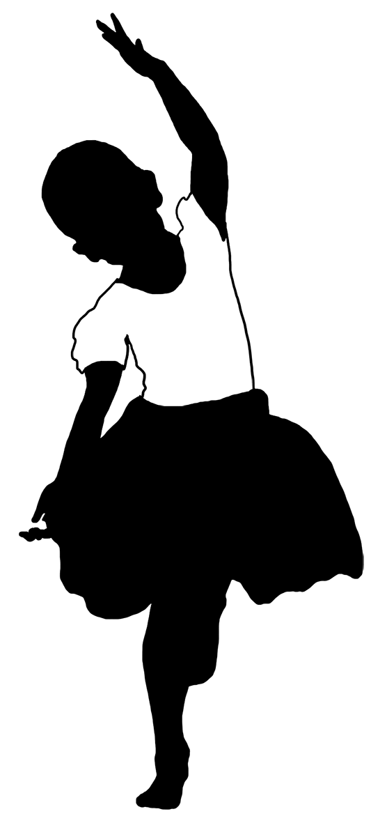 Children silhouette at getdrawings. Draw clipart dancing kid