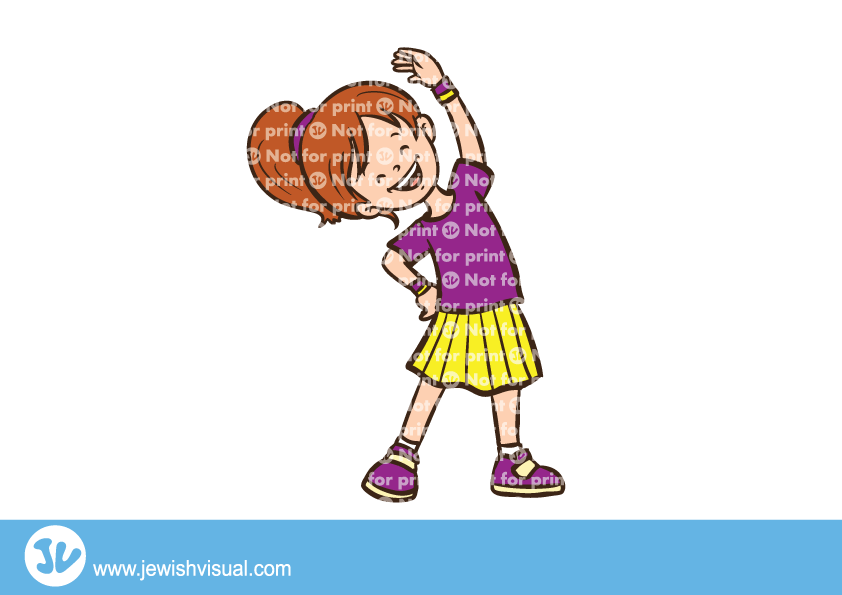 Girl doing jvisual . Clipart happy exercise