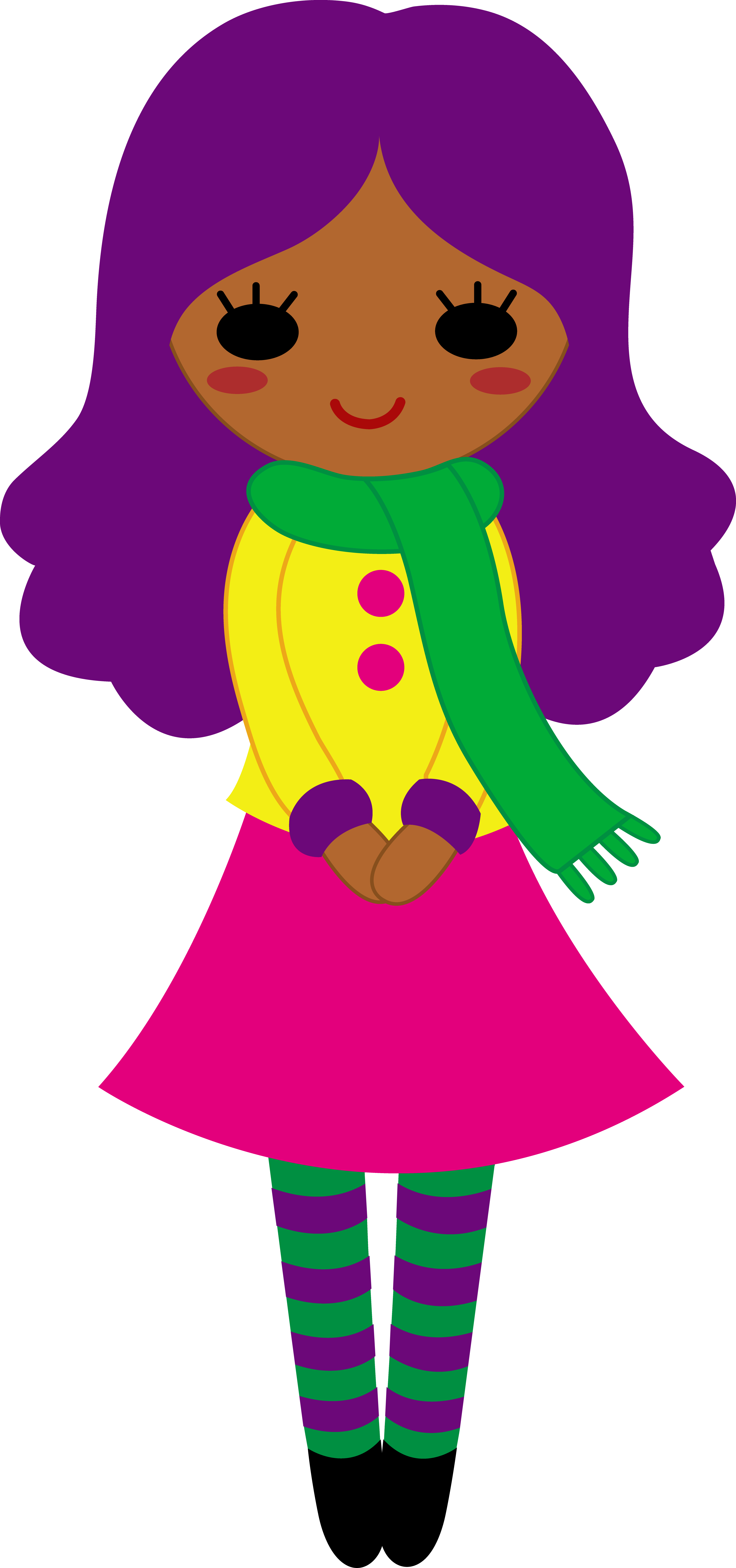 Purple clipart cute. Girl fashion at getdrawings