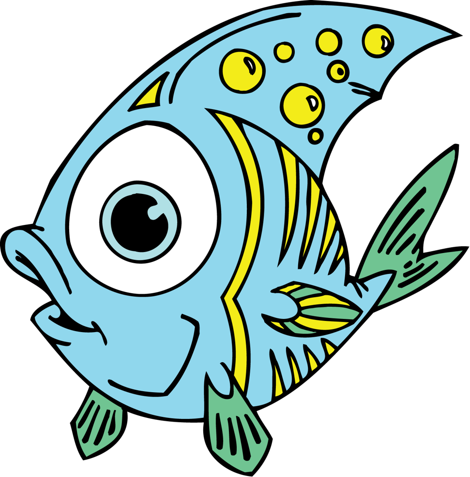 Kids clipart animal. Fish clip art for