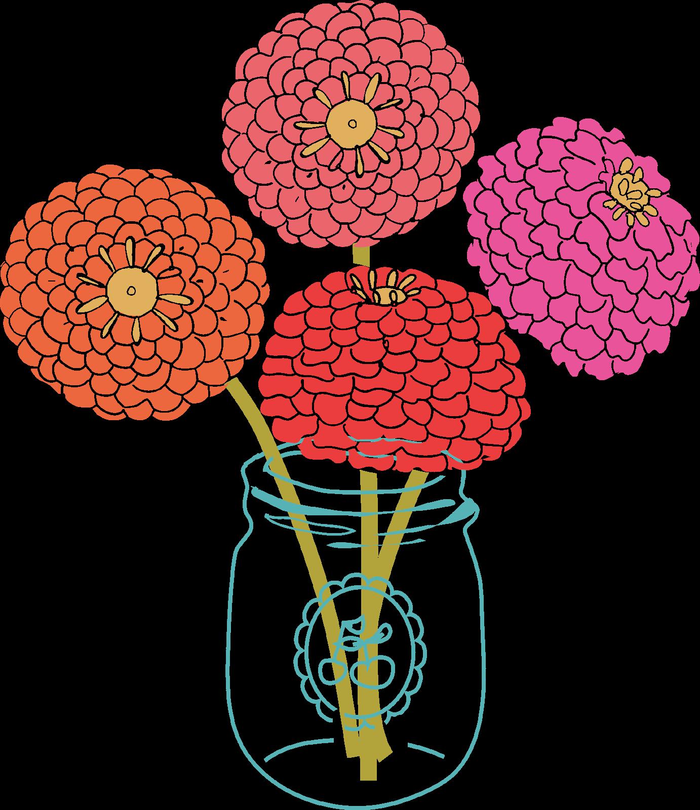 Modern kid clipartix. Floral clipart rustic flower
