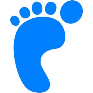 Feet clipart blue foot. Baby clip art cliparts